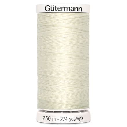 Col. 001 Gutermann Sew All Thread 500m - Ivory