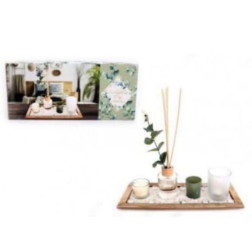 Eucalyptus Diffuser and Candle Set
