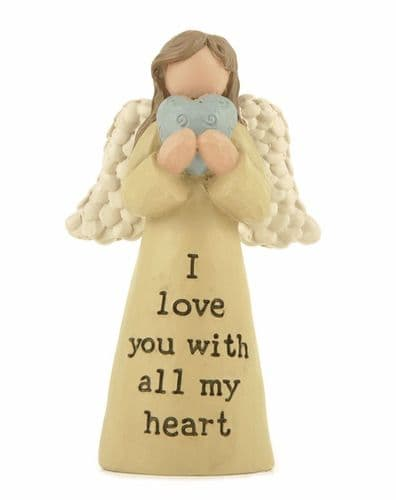 I Love You With All My Heart Angel Ornament
