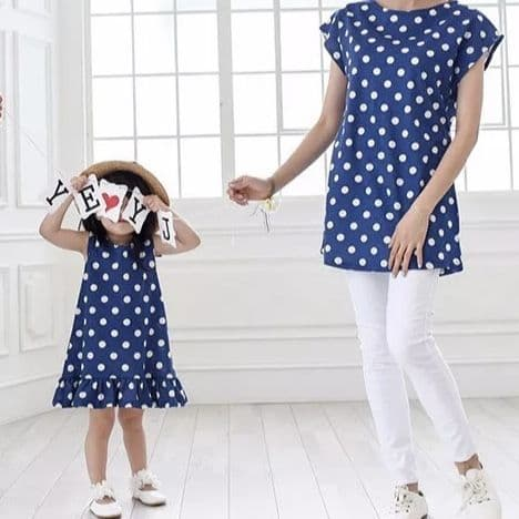 POLKA DOT TOP AND DRESS