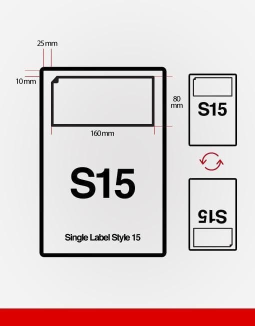 S15 Integrated Labels (160mm x 80mm) - 1000 Sheets - From £19.00 PER BOX