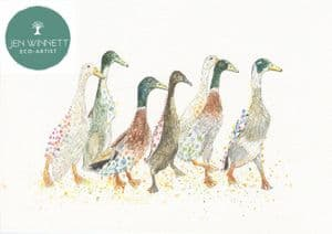 DUCKS IN A ROW - SIGNED PRINT