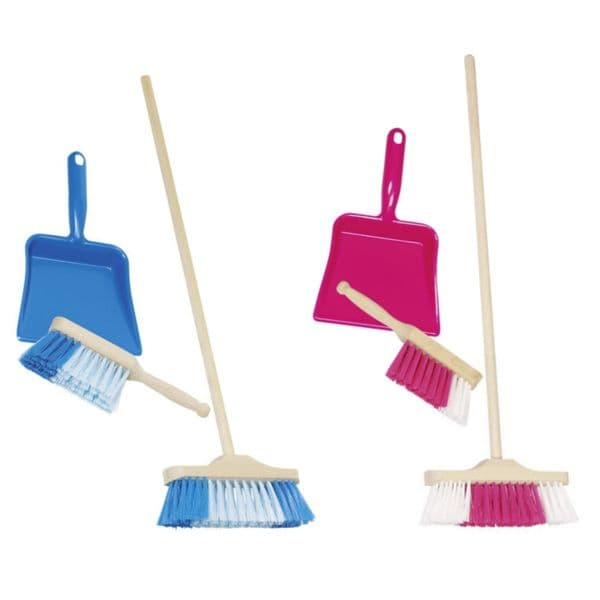 Childrens  Cleaning Sweeping Brush Play Set Includes Broom & Dustpan Toy