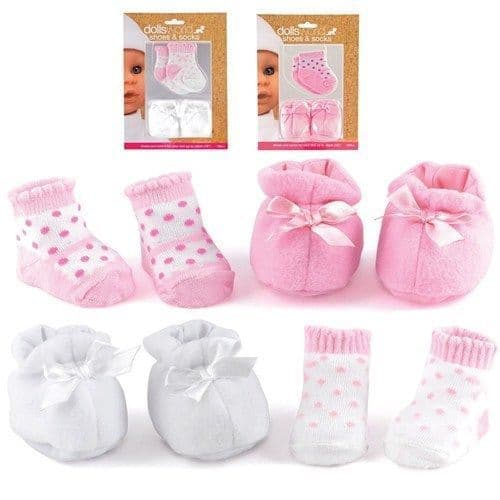 Dolls World Toy Dolls Shoes And Socks Pink And White For Dolls Up To 46 cm (18