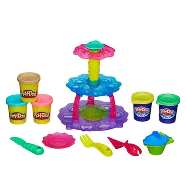 Play Doh Playdoh Cupcake Tower Includes 3 Pots Of Play-Doh & 2 Pots Of Play-Doh Plus