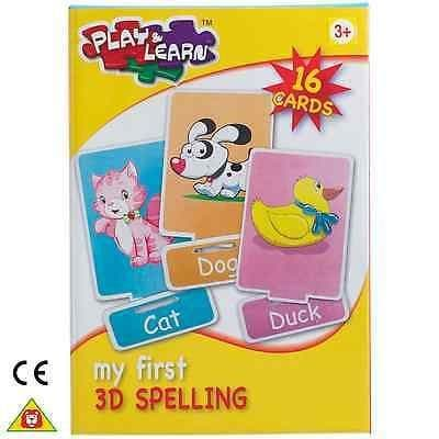 Play&Learn kids My First 3D Spelling, Memory Game or Puzzle Sum 3+ Years