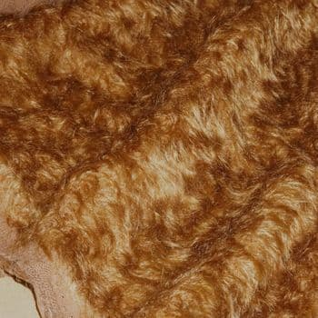 25mm distressed mohair - Lions Mane Brown