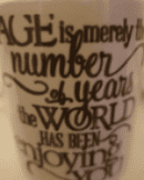 Age is merely a number ceramic coffee/tea mug