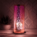 Aroma wax melt electric lilac silhouette  design lamp