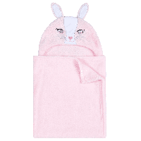 Babies novelty hooded plush wrap bunny