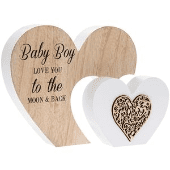 Baby boy love you to the moon plaque