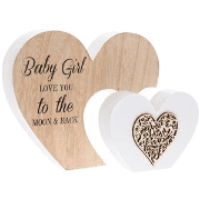 Baby girl love you to the moon plaque