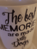 Best memories are made with dogs ceramic mug