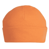 Bright orange  personalised baby beanie hat 6-12 months