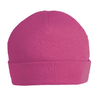 Cerise pink personalised baby beanie hat 0-3 months