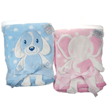 Cute little puppy & elephant 3D Applique baby wrap