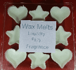 Fairy laundry inspired hearts & stars wax melt clamshell