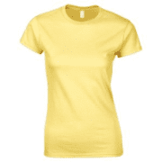 Fruit of the loom lady fit t-shirt personalised yellow
