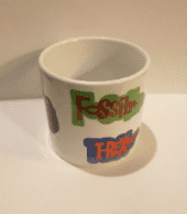 Fun dinosaur design  kid's 6oz ceramic mugs