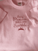 Girls pink sparkle princess t-shirt