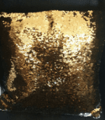 Gold and silver sequinned magic cushions