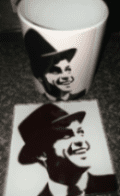 Iconic gift set mug and coaster frank sinatra design