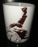 Iconic white ceramic freddie mercury coffee/tea mug