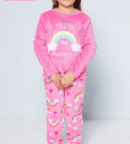 Personalised girls pink fleece follow your dreams pyjamas