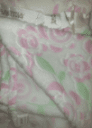Personalised pink soft fleece rose design baby blanket