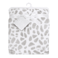 Plush fleece giraffe design baby blanket