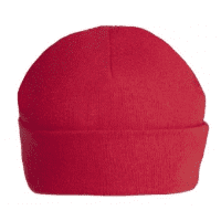 Red personalised baby beanie hat 0-3 & 3-6 months