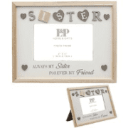 Sentiments sisterphoto  frame with hearts