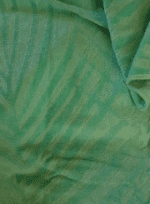 Soft velour green beach towel can be personalised