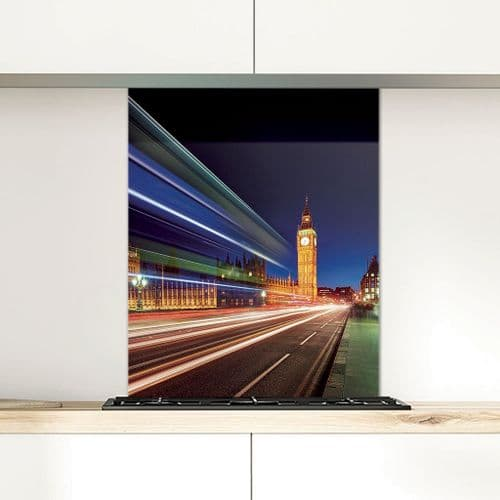 Big Ben and The Houses of Parliament - Glass Splashback