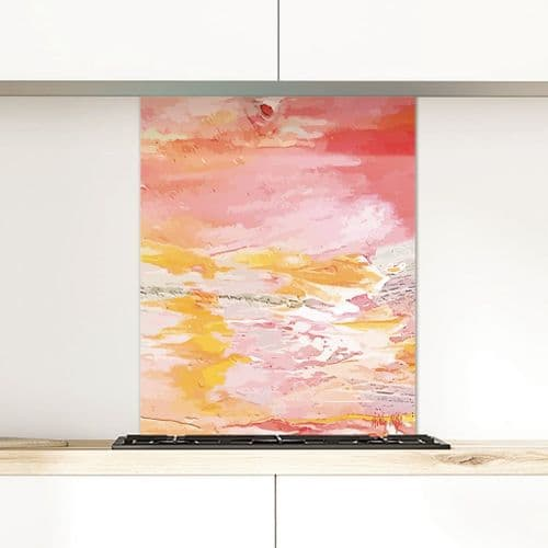 Excess Paint Red - Glass Splashback