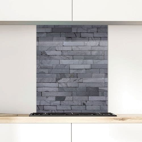 Grey Slate Split Face - Glass Splashback