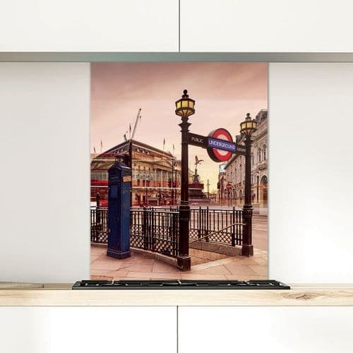 Piccadilly Circus - Glass Splashback