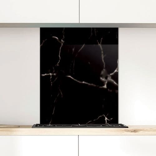 Statuary Marble Black - Glass Splashback