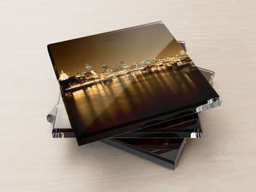 Thames Night - Glass Coasters