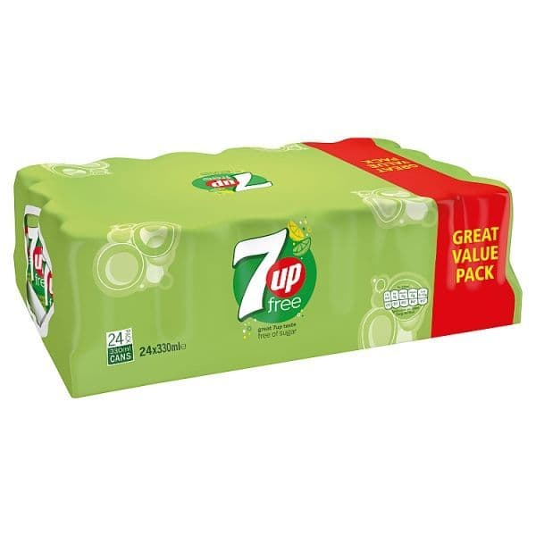 7up Free cans 24 x 330ml