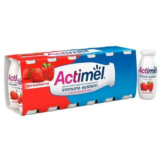 Actimel Strawberry Yoghurt Drink 12x100g