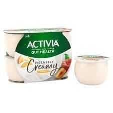 Activia Intensely creamy Peach 4x110g