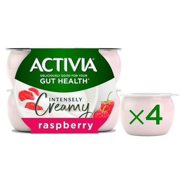 Activia Intensely Creamy Raspberry 4x110g
