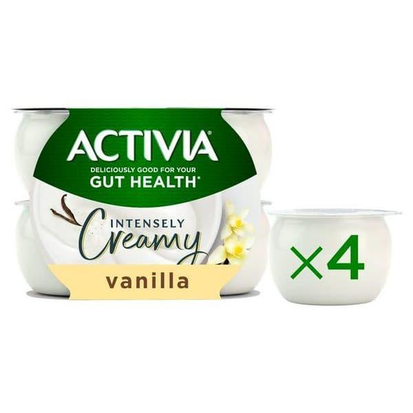 Activia Intensely Creamy Vanilla 4x110g