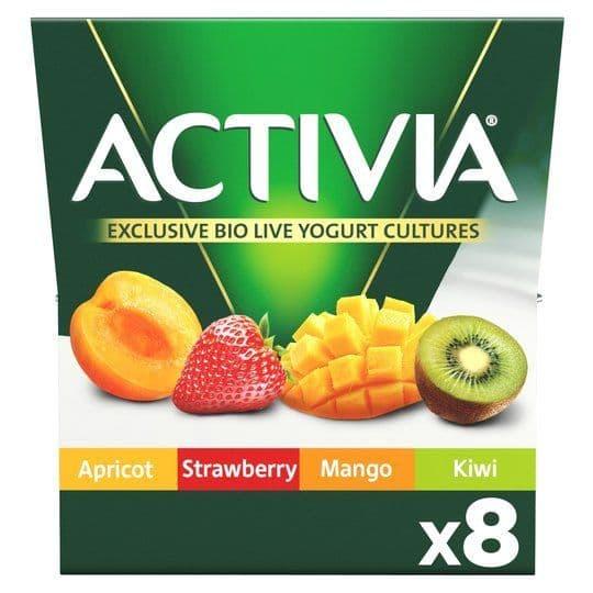 Activia Mixed Fruit Yoghurts 8x125g