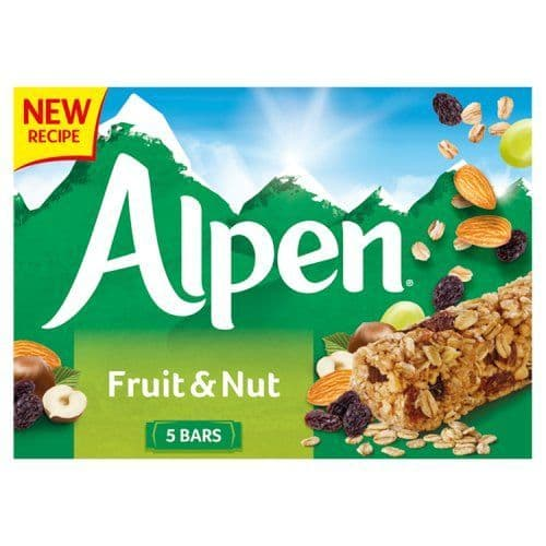 Alpen Fruit & Nut Bars 5x29g