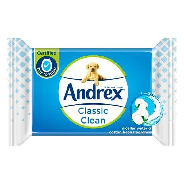 Andrex Classic Clean Washlets 40 Wipes