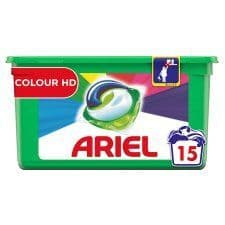 Ariel 3 in 1 Colour & Style Pods 15 Washes