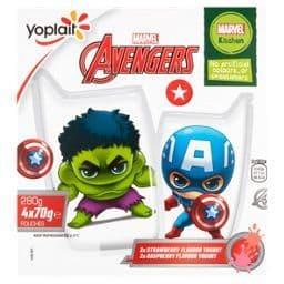 Avengers Yoghurt Pouches 4x70g