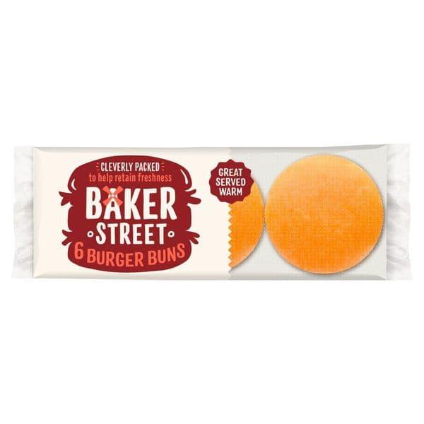 Baker Street 6 Plain Burger Buns